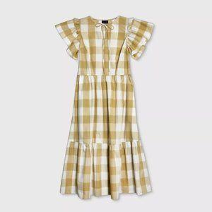 Who What Wear Sleeveless Gingham Dress